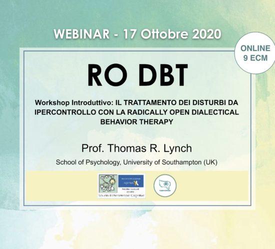 ro dbt, ro-dbt, dbt, radically open DBT, CBT, mancini, cavalletti, cheli, lynch, webinar, ECM