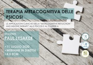 paul lysaker, merit, metacognizione, terapia metacognitiva, tages, tages onlus, webinar