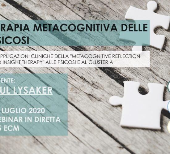 paul lysaker, merit, metacognizione, terapia metacognitiva, tages, tages onlus, webinar