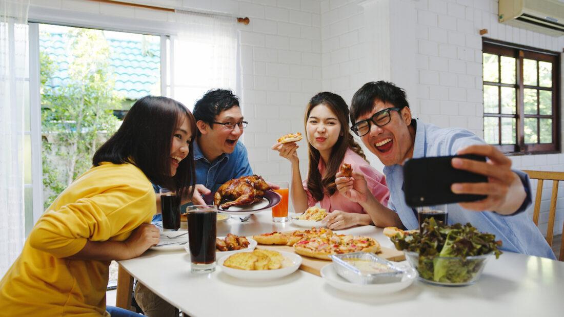 mukbang, social eating, food porn